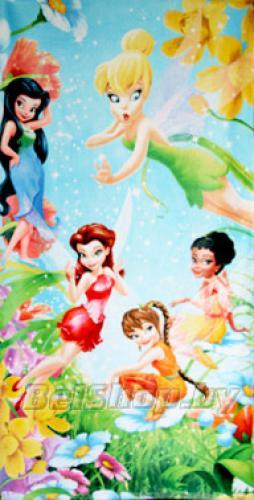 """Детское махровое полотенце """"Феи"""" Дисней (Disney) 70х140"""