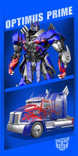 """Детское махровое полотенце 70х140 """"Трансформер Optimus Prime"""" Мона-Лиза Дисней 508910/1"""