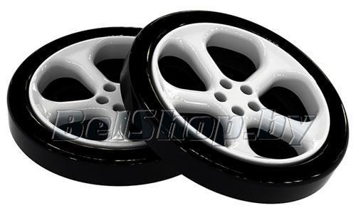 Колесо пластиковое черное для кровати-машинки