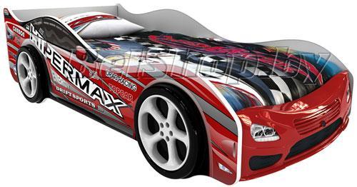 Детская кровать машина для ребенка Дельта Престиж с 2 колесами