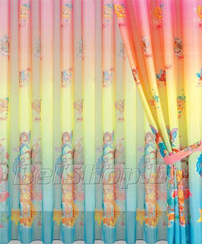 """Комплект детских штор в детскую комнату Мона Лиза """"Винкс"""" (Дисней, Mona Liza Winx) 500750/5"""