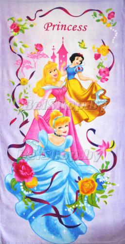 """Махровое полотенце """"Принцессы в цветах"""" Дисней (Disney) 70х140"""