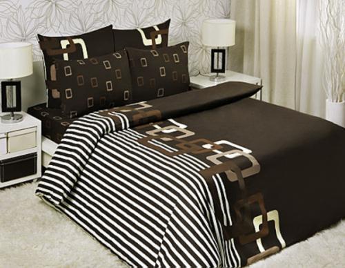 """Евро комплект постельного белья """"Шоколад"""" Мона Лиза 50x70 (Chocolate Мona Liza Classic)"""