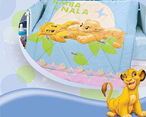 """Одеяло детское 105х140 зимнее холофайбер """"Король лев"""" Дисней (ясли)"""