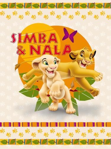 """Детский плед флисовый """"Король лев"""" Дисней (Disney) 150х200"""