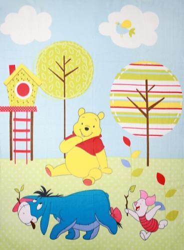 """Детский плед флисовый """"Винни и его друзья"""" Дисней (Disney) 150х200"""