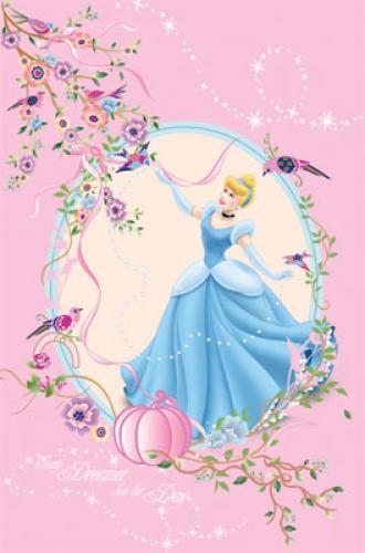 """Детский плед флисовый """"Золушка"""" Дисней (Disney) 150х200"""