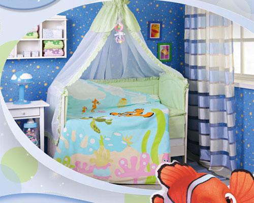 """Детское постельное белье в кроватку """"Немо"""" Дисней (Disney, ясли)"""