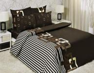 """Евро комплект постельного белья """"Шоколад"""" Мона Лиза 70x70 (Chocolate Мona Liza Classic)"""