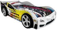 Детская кровать машина для ребенка Сигма Премиум 3D с 2 колесами