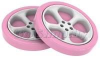 Колесо пластиковое розовое для кровати-машинки