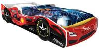 Детская кровать машина для ребенка Формула Премиум 3D красная