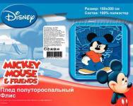"""Детский плед флисовый """"Микки Маус в кепке"""" Дисней (Disney) 150х200"""